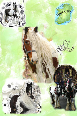Gypsy Vanner Collage Original by Donald Pavlica