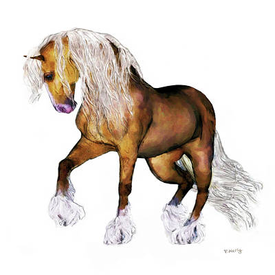 Painting -  Gypsy Vanner Horse  by Valerie Anne Kelly