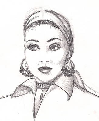 Gypsy Woman Art Print by Scarlett Royal