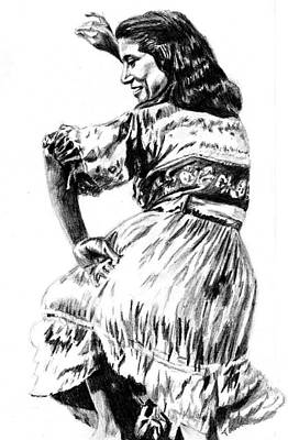 Drawing - Gypsy Woman by Toon De Zwart