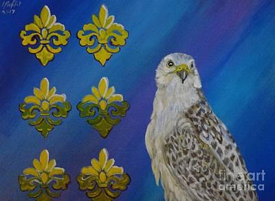 Gyr Falcon Art Print by Isabel Proffit