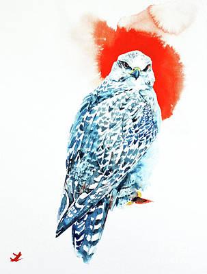 Painting - Gyrfalcon by Zaira Dzhaubaeva