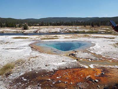 Photograph - Gyser Basin by Cindy Croal