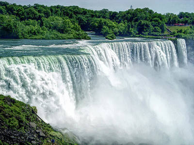 Photograph - H D R Niagara Falls 12 by Aimee L Maher ALM GALLERY