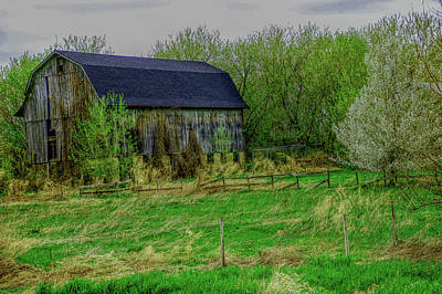 Photograph - H D R Rustic Barn by Aimee L Maher Photography and Art Visit ALMGallerydotcom