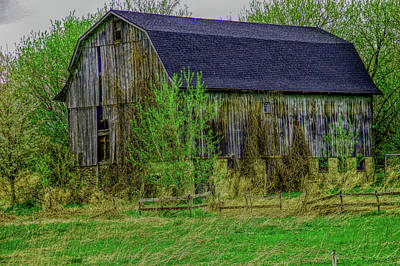 Photograph - H D R Rustic Barn Close Up by Aimee L Maher ALM GALLERY