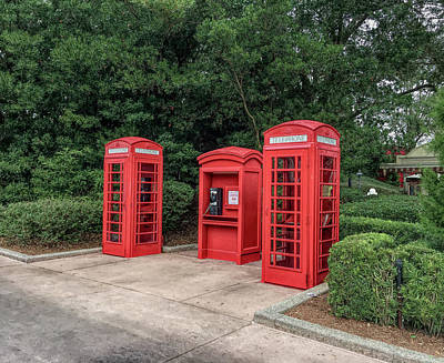 Photograph - H D R Telephone Booths by Aimee L Maher Photography and Art Visit ALMGallerydotcom
