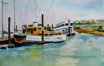 Painting - H Dock, Loch Lomond Marina by Tom Simmons