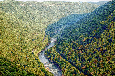Photograph - H D R New River Gorge by Aimee L Maher ALM GALLERY
