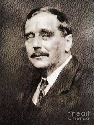 Literature Painting - H. G. Wells, Literary Legend by John Springfield