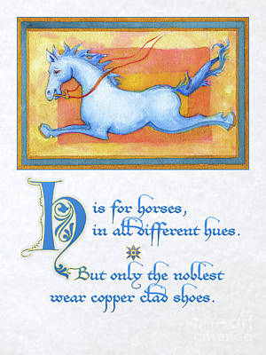 H Is For Horses Art Print