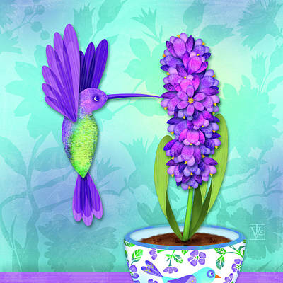 Digital Art - H Is For Hummingbird by Valerie Drake Lesiak