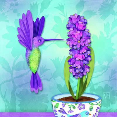 H Is For Hummingbird Art Print