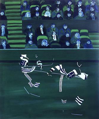 H W Art Print by Ken Yackel