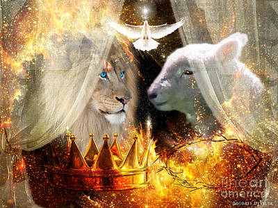 Animals Digital Art Royalty Free Images - Ha-shilush Ha-kadosh  Royalty-Free Image by Dolores Develde