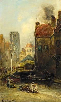 Painting - Haagse Veere. Rotterdam by Johan Barthold Jongkind