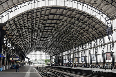 Photograph - Haarlem, Train Station by Patricia Hofmeester