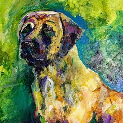 Haas Mastiff Green Gold Original by Karen Ahuja