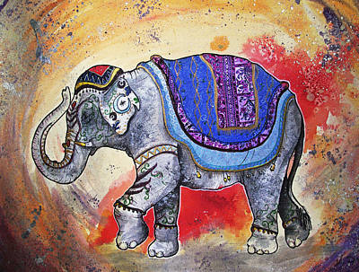 Indian Cultural Painting - Haathi  by Sydney Gregory