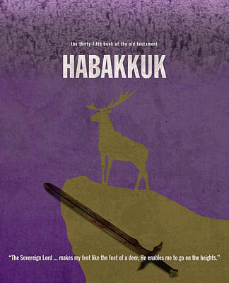 Habakkuk Books Of The Bible Series Old Testament Minimal Poster Art Number 35 Art Print
