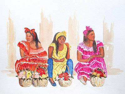 Painting - Habana Tres Damas by Patricia Beebe