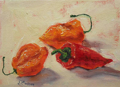 Painting - Habaneros And A Red Chile by Jill Musser