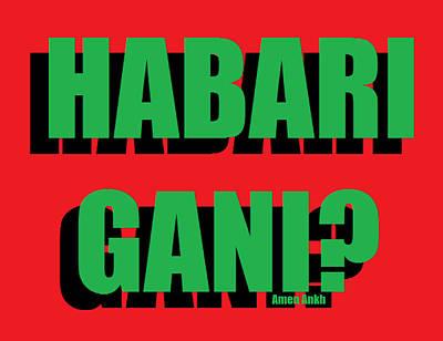 Habari Gani Art Print