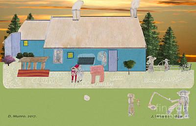 Digital Art - Habitants Version 4 by Donna L Munro