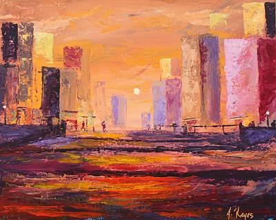 Painting - Habitat by Angel Reyes