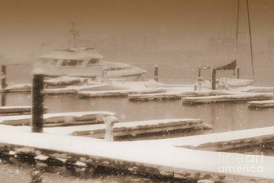 Photograph - Habor Snowynight by Ania M Milo