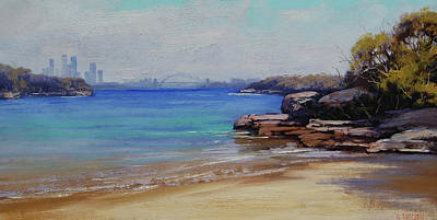 Impressionist Beach Painting - Habour Beach Sydney by Graham Gercken