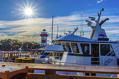 Photograph - Habour Town Lighthouse And Marina by Randy Bayne