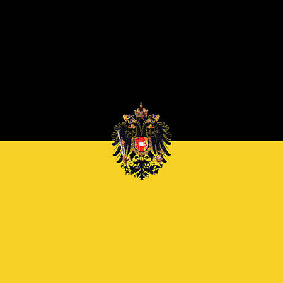 Photograph - Habsburg Flag With Imperial Coat Of Arms 3 by Helga Novelli