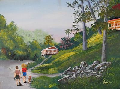 Painting - Hacia El Rio by Luis F Rodriguez