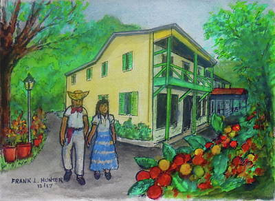 Painting - Hacienda Juanita Plantation In Puerto Rico by Frank Hunter