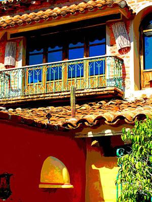 Hacienda Balcony By Darian Day Art Print by Mexicolors Art Photography