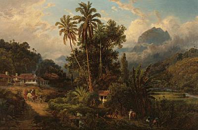 Painting - Hacienda De San Esteban De Puerto Cabello, Venezuela by Ferdinand Bellermann
