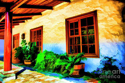 Digital Art - Hacienda by Rick Bragan