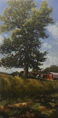 Painting - Hackberry Shade by Marty Coulter