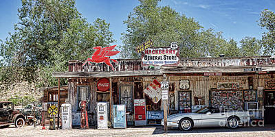 Photograph - Hackberry General Store On Route 66, Arizona by Tatiana Travelways