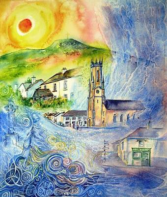Streetscape Painting - Hacketstown- Aide Memoire  by Trudi Doyle