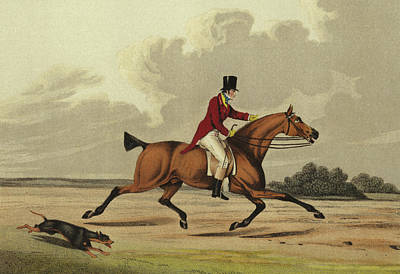 Running Horse Drawing - Hackney by Henry Thomas Alken