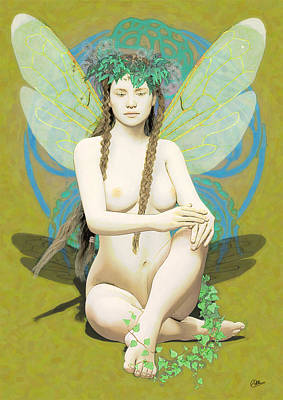 Hada Painting - Hada Amarilla by Quim Abella