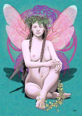 Hada Painting - Hada Del Amor Verdadero by Quim Abella