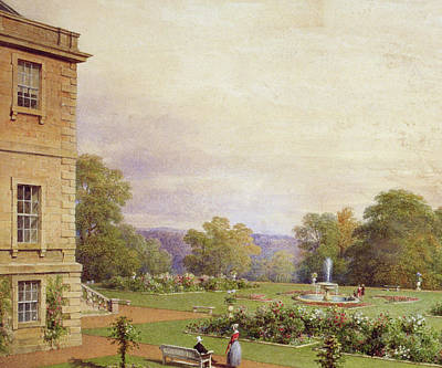 Flowerbed Painting - Haddo House by James Giles