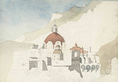 Perhaps Painting - Haden Sketch Of A Church by MotionAge Designs
