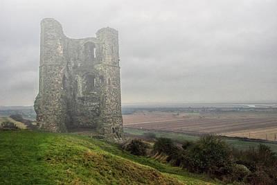 Hadleigh Castle Fog Art Print by Martin Newman