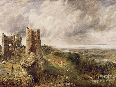 Constable Painting - Hadleigh Castle by John Constable