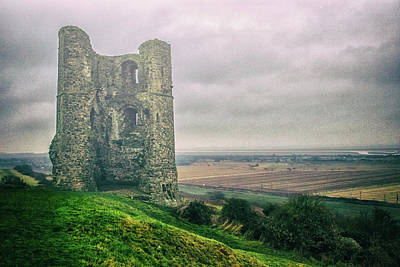 Battlements Photograph - Hadleigh Castle by Martin Newman