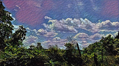Digital Art - Hadley Michigan Landscape In Motion by Artful Oasis